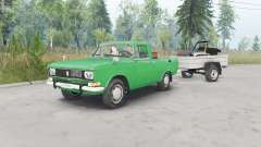 Москвич-2315 зелёный окрас для Spin Tires