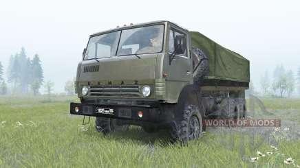 КамАЗ-4310 тёмно-зелёный окрас для Spin Tires