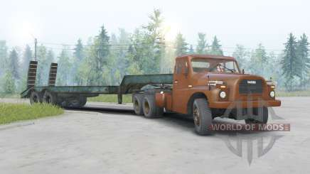 Tatra T148 6x6 v1.2 тёмно-оранжевый окрас для Spin Tires