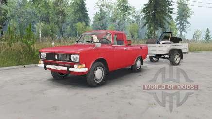 Москвич-2315 красный окрас для Spin Tires