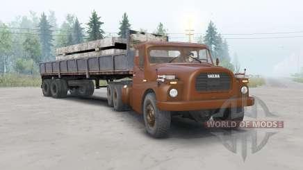 Tatra T148 6x6 v1.1 вишнёвый окрас для Spin Tires