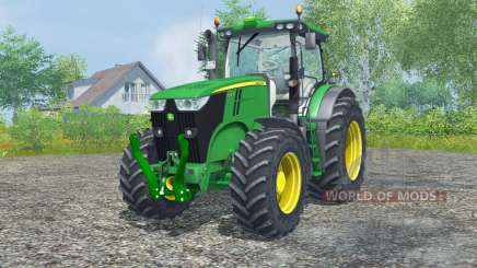 John Deere 7200R north texas green для Farming Simulator 2013