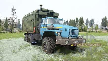 Урал-4320 мягко-голубой окрас для MudRunner
