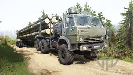 КамАЗ-4310 тёмно-зелёный окрас для MudRunner