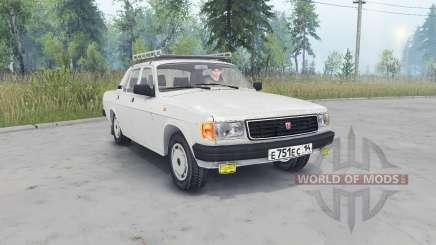 ГАЗ-31029 Волга светло-серый окрас для Spin Tires