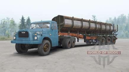 Tatra T148 6x6 v1.2 синий окрас для Spin Tires