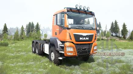 MAN TGS cadmium orange для MudRunner
