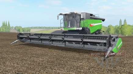 Fendt 9490 X with baler attacher для Farming Simulator 2017