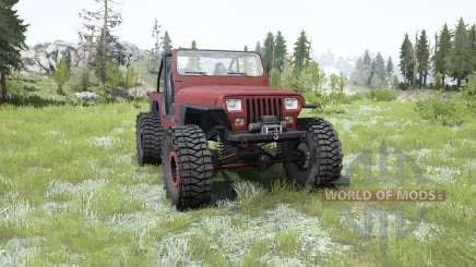 Jeep Wrangler (YJ) pale carmine для MudRunner