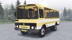 ПАЗ-3205 v1.2 жёлтый окрас для Spin Tires