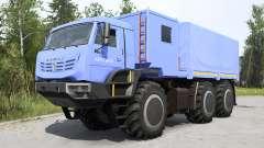 КамАЗ-6345 Арктика мягко-синий для MudRunner
