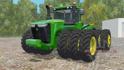John Deere 9620R triple wheelȿ для Farming Simulator 2015