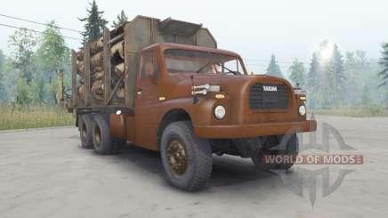 Tatra T148 6x6 v2.2 вишнёвый окрас для Spin Tires