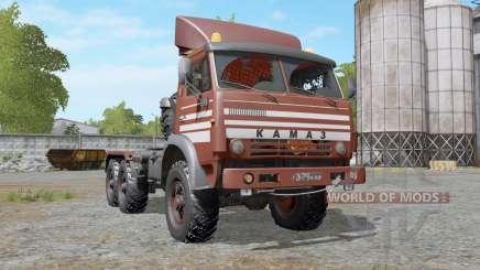 КамАЗ-44108 умеренно-красный для Farming Simulator 2017