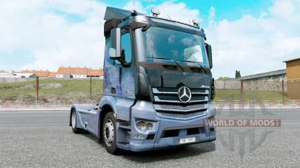 Mercedes-Benz Antos 1832 moonstone blue для Euro Truck Simulator 2