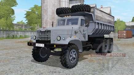 КрАЗ-256 серовато-синий для Farming Simulator 2017