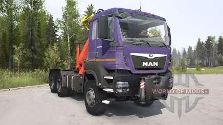 MAN TGS 2007 dark lavender для MudRunner