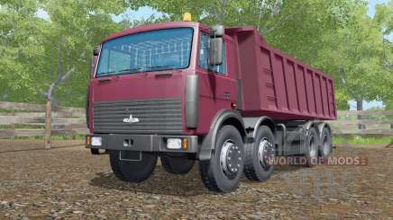МАЗ-6516 тёмно-розовый окрас для Farming Simulator 2017