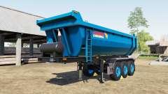 Schmitz Cargobull S.KI rich electric blue для Farming Simulator 2017