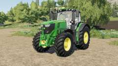John Deere 6R-series tire selection для Farming Simulator 2017