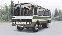 ПАЗ-3205 v1.2 зелёный для Spin Tires