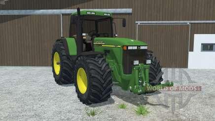John Deere 8110 left door opens для Farming Simulator 2013