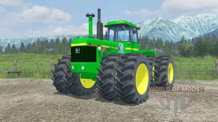 John Deere 8440 moving parts interior для Farming Simulator 2013