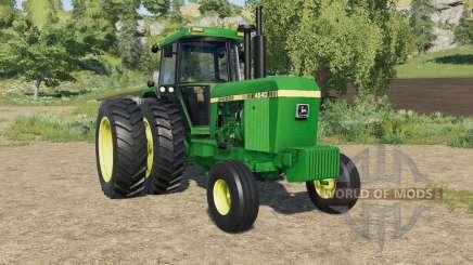 John Deere 4640 dual rear wheels для Farming Simulator 2017