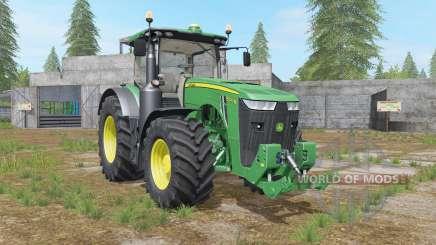 John Deere 8R-series hydraulics&weight для Farming Simulator 2017