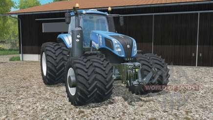 New Holland T8.320 added dual wheels для Farming Simulator 2015