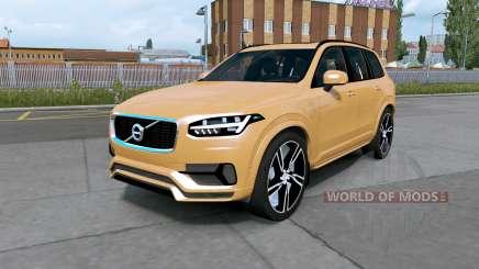 Volvo XC90 T8 2016 indian yellow для Euro Truck Simulator 2
