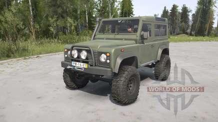Land Rover Defender 90 Station Wagon Army для MudRunner