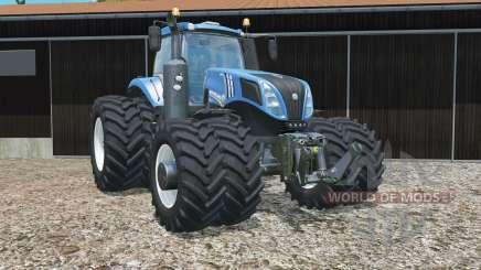 New Holland T8.320 zwillingsbereifunǥ для Farming Simulator 2015