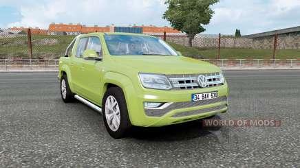 Volkswagen Amarok Double Cab 2016 olive green для Euro Truck Simulator 2