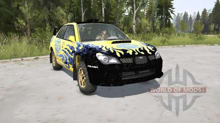 Subaru Impreza WRX STi Spec C N12 Rallycar 2007 для MudRunner