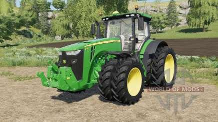 John Deere tractors with added Row Crop wheels для Farming Simulator 2017