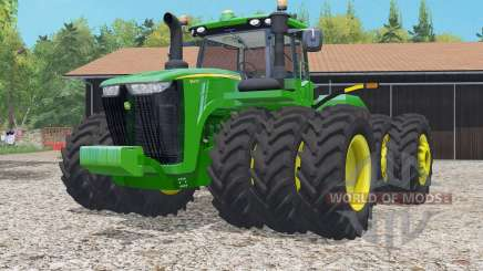 John Deere 9620R islamic green для Farming Simulator 2015