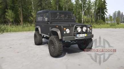 Land Rover Defender 90 Station Wagon black для MudRunner