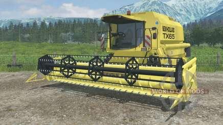 New Holland TX65 dynamic exhaust для Farming Simulator 2013