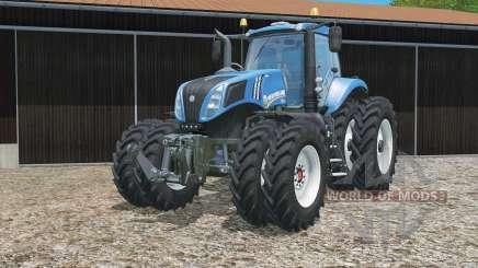 New Holland T8.320 zwillingsbereifung для Farming Simulator 2015