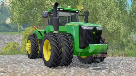 John Deere 9370R row crop для Farming Simulator 2015