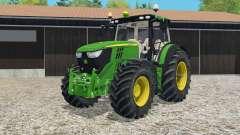 John Deere 6R-series twin wheels для Farming Simulator 2015