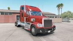 Freightliner Coronado dark pastel red для American Truck Simulator
