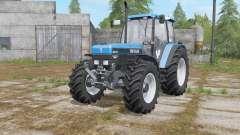 New Holland 8340 rich electric blue для Farming Simulator 2017