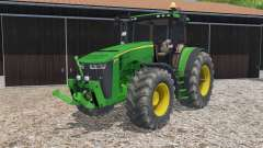 John Deere 8370R full lighting для Farming Simulator 2015