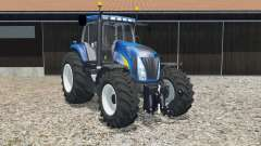 New Holland T8020 science blue для Farming Simulator 2015