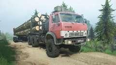 КамАЗ-4310 бордовый окрас для MudRunner