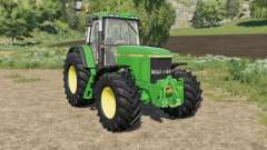 John Deere 7010 various wheel configurations для Farming Simulator 2017