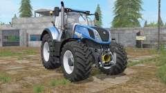 New Holland T7-series french blue для Farming Simulator 2017