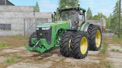 John Deere 8320R&8370R double wheels для Farming Simulator 2017